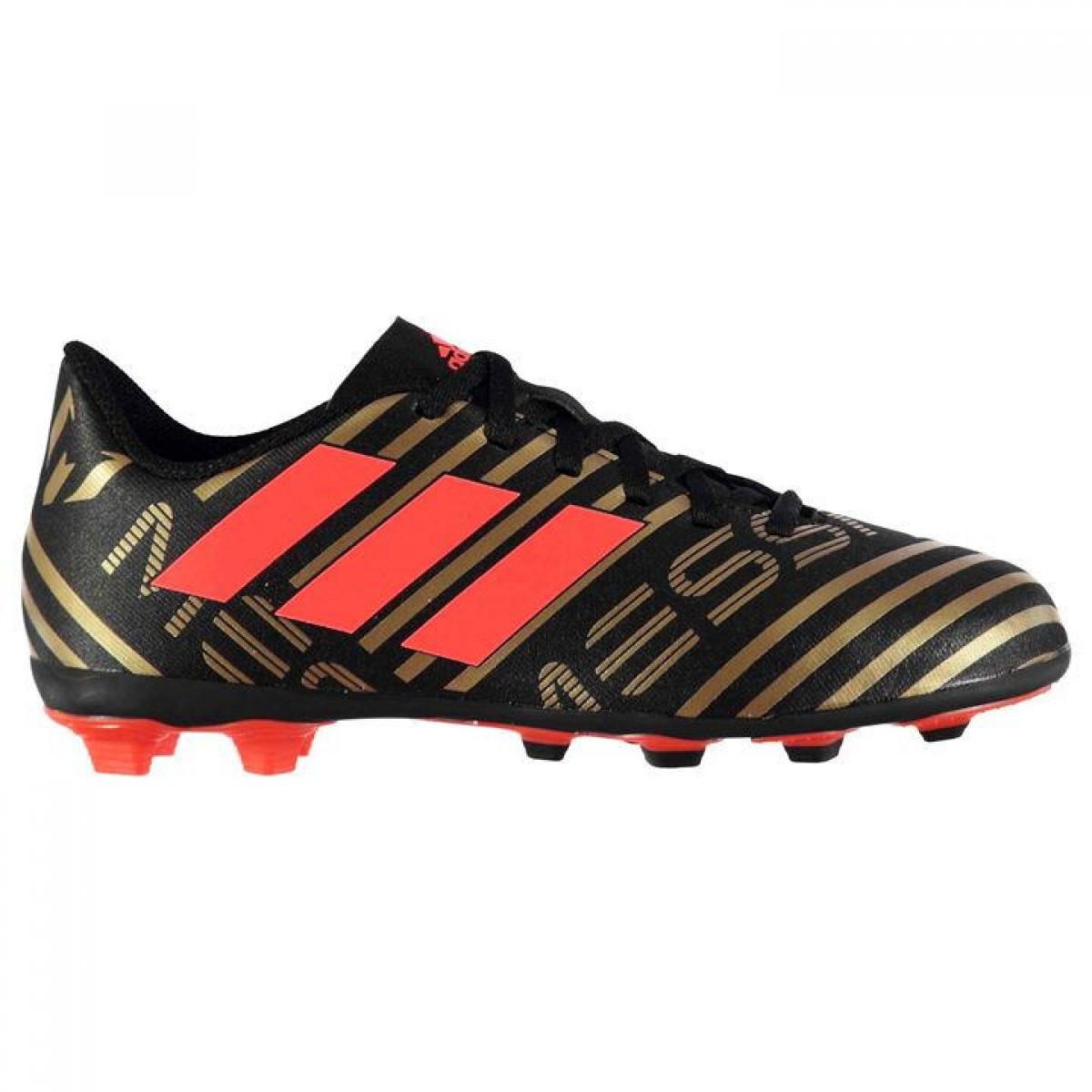 2075de70 Бутсы Adidas Nemeziz Messi 17.4 Childrens FG Football Boots Black/Gold -  Оригинал - FAIR