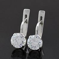 Серебряные серьги с камнем, фото 1