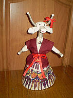 Кукла коза , кукла сувенир . кукла ручной работы