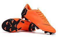 Футбольные бутсы Nike Mercurial Vapor XII Pro FG Total Orange/Black/Total Orange/Volt, фото 1