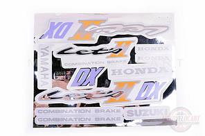 Наклейки (набор) Suzuki LET'S 2 (21х15см, бонус накл. Honda) (#0111)