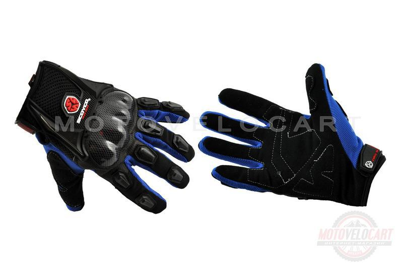 """Перчатки   (mod:HD-12, size:M, синие, текстиль, карбон)   """"SCOYCO"""""""