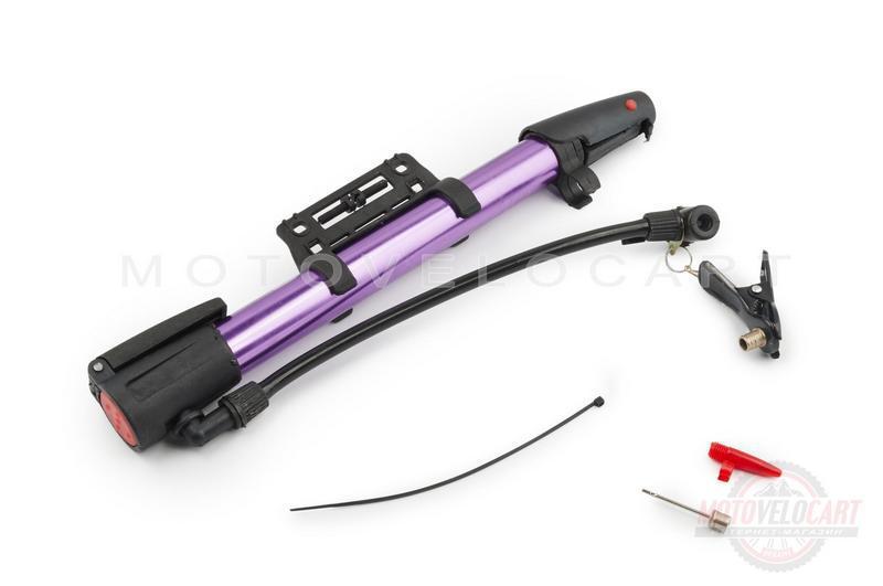 """Насос ручной   (L-250mm, с крепежем на раму, фиолетовый)   """"OP"""""""