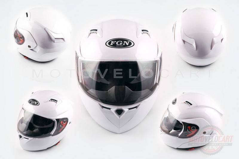 """Шлем трансформер """"FGN"""" (mod:688) (size:L, белый, солнцезашитные очки)"""