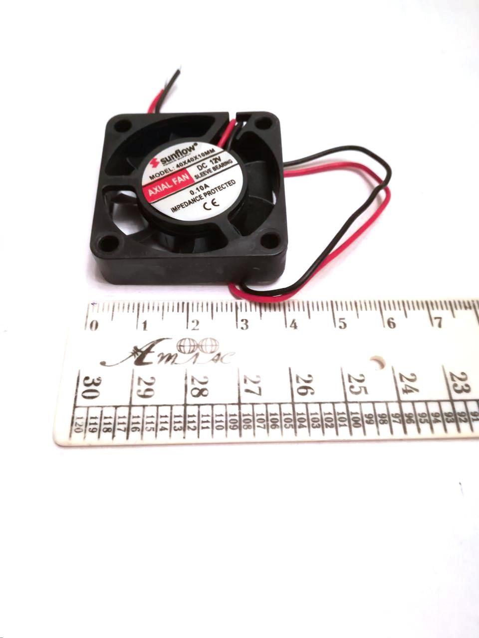 Вентилятор Sunflow (12V, 0.10A) 40х40х10мм квадратный