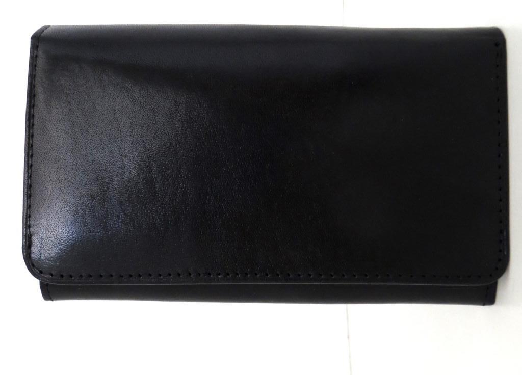 Жіночий кошельок із натуральної шкіри ( Італія) Чорний