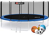 Батут Hop-Sport 16ft (488cm) blue с внешней сеткой, фото 1