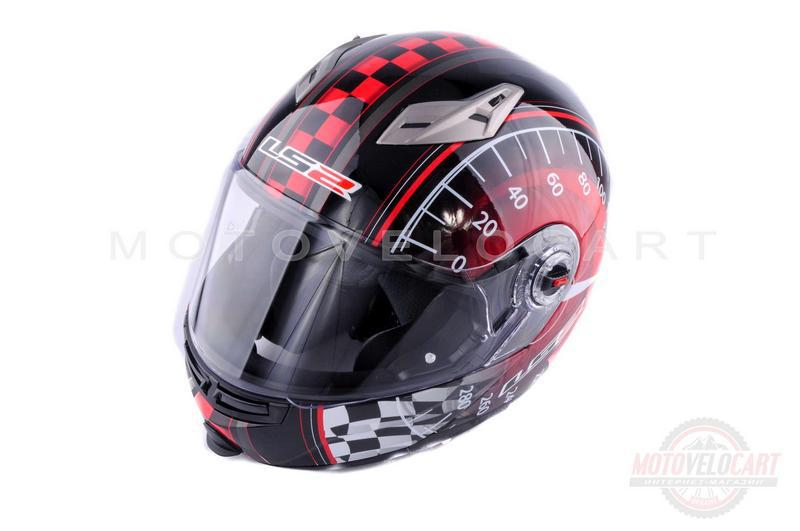 """Шлем трансформер   (size:ХL, красно-черный + солнцезащитные очки)   """"LS-2"""""""