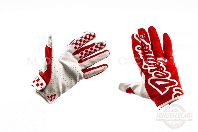 """Перчатки   """"TLD""""   (красные, size XL)"""