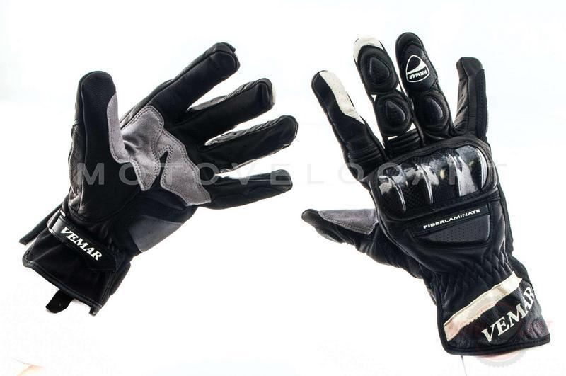 "Перчатки  (чёрно-белые, size M)   ""VEMAR"""