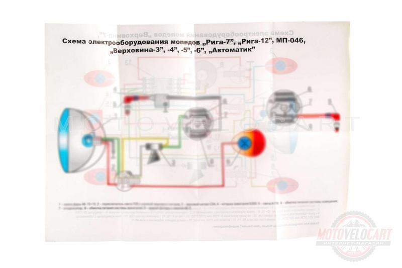 "Схема электрооборудования   РИГА, ВЕРХОВИНА   ""EVO"""
