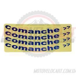 Наклейки вело световозвращающие (на обод колеса) Comanche Синие 25х13см