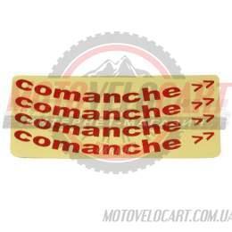 Наклейки вело световозвращающие (на обод колеса) Comanche Красные 25х13см