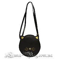 Женская сумка круглая (With black ears) 3 Цвета Черный