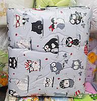 Набор постельного белья с балдахином и защитой в детскую кроватку