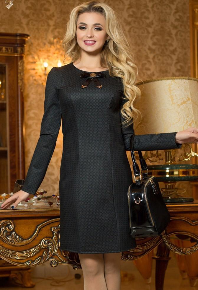 89513babe59 Трикотажное Черное Платье Д-1363 — в Категории