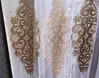 Турецкие тюли с вишивкой на основе фатина