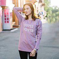 """Свитшот кофта для беременных и кормящих свитер """"Cирень"""" c удобным секретом, для доступа к груди M S L XL"""