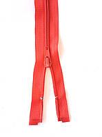 Молния спиральная Светло красная 80см Тип 5 разъемная с одним бегунком пластиковая