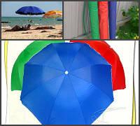 Зонт пляжный одноцветный 2.00 м.