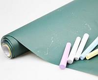 Грифельная наклейка с мелками UKC Top 45х200 см Green