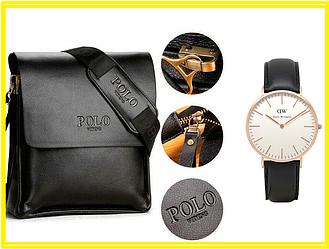 АКЦИЯ!!! Мужская сумка Polo Videng.Оригинал +Часы в Подарок!