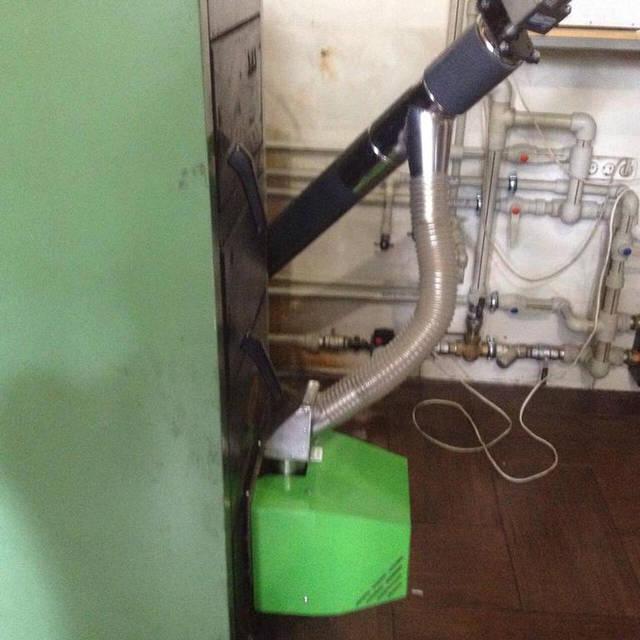 Ещё один SAS ECO переоборудован под факельную пеллетную горелку BIOPROM 36 кВт. http://bioprom.ua/. 3