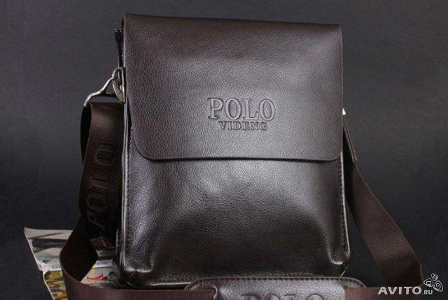 Мужская сумка через плечо Polo Videng Барсетка Сумка-планшет+Подарок. Оригинал!