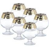"""Набор бокалов для бренди """"Греческий узор""""  GE03-483"""