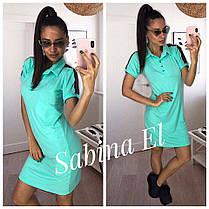 Платье рубашкас воротником и тесьмой на плече, фото 3