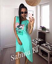 Платье майка летнее свободное из вискозы с накаткой, фото 3
