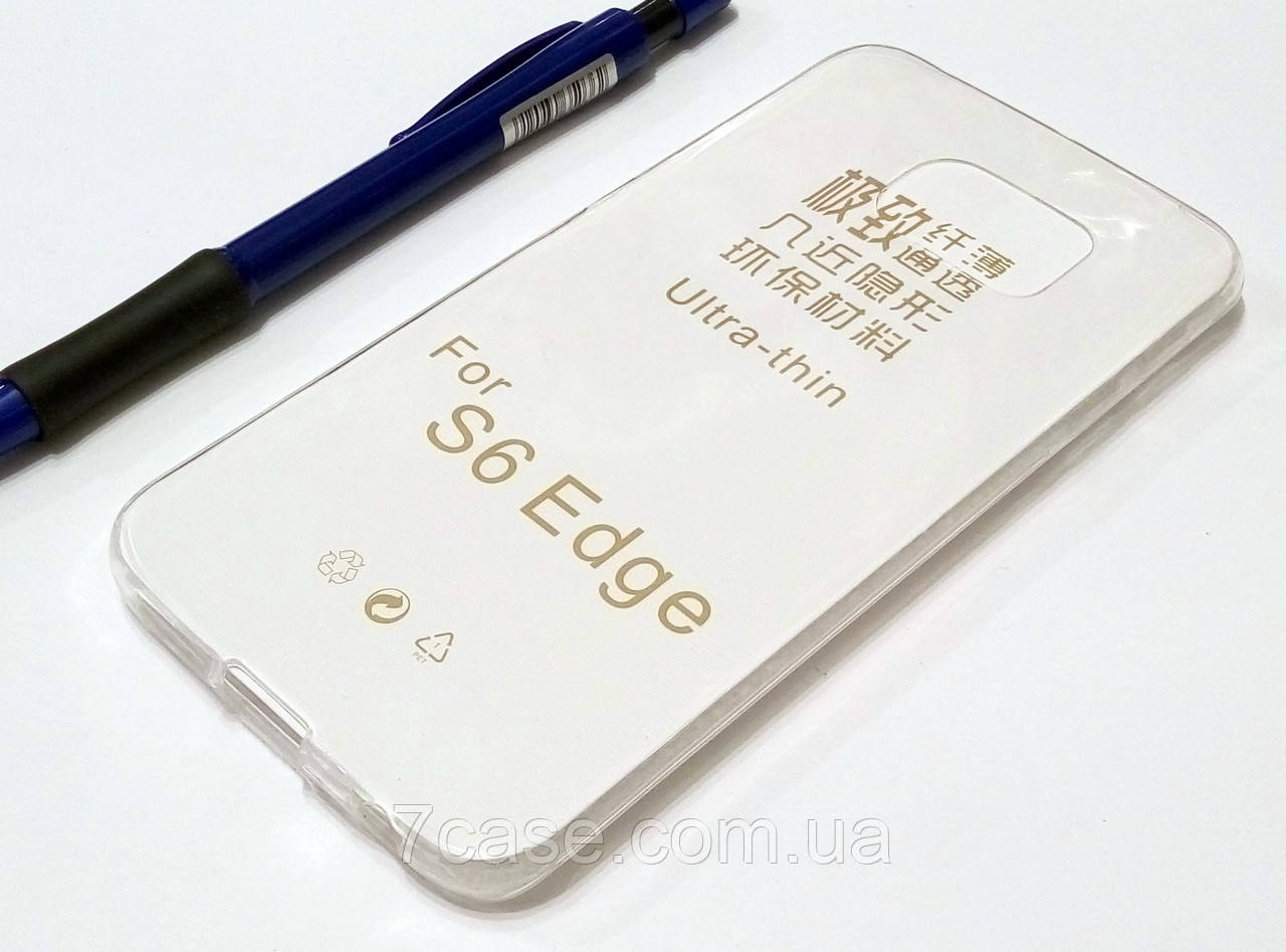 Чехол для Samsung Galaxy S6 Edge G925 силиконовый ультратонкий прозрачный