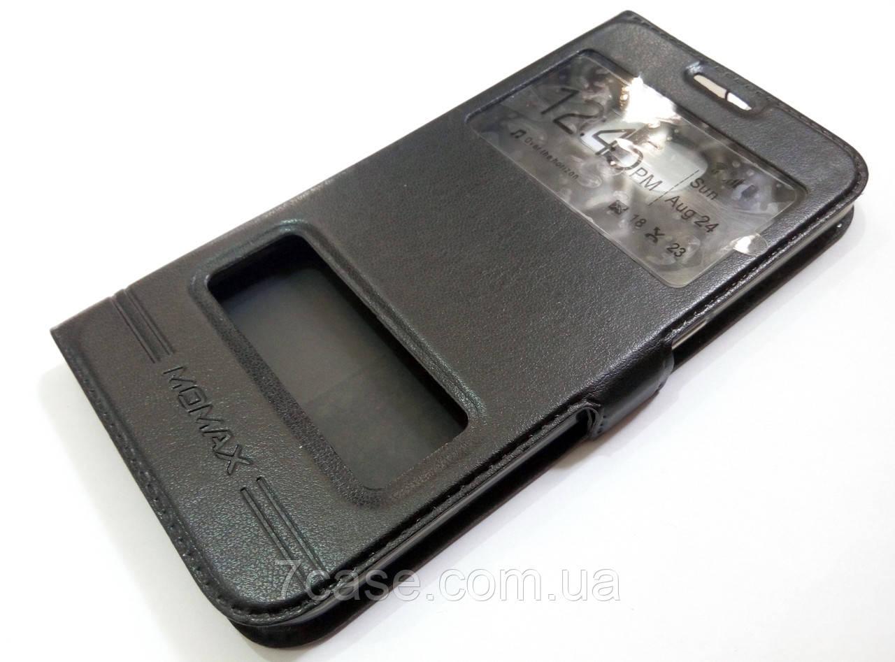 Чехол книжка с окошками momax для Samsung Galaxy S6 G920 черный