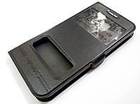 Чехол книжка с окошками momax для Samsung Galaxy S6 G920 черный, фото 1