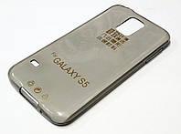 Чехол для Samsung Galaxy S5 G900 силиконовый ультратонкий прозрачный серый, фото 1