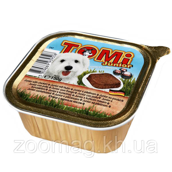 Консервы TOMi  junior для щенков паштет  0.150 кг.