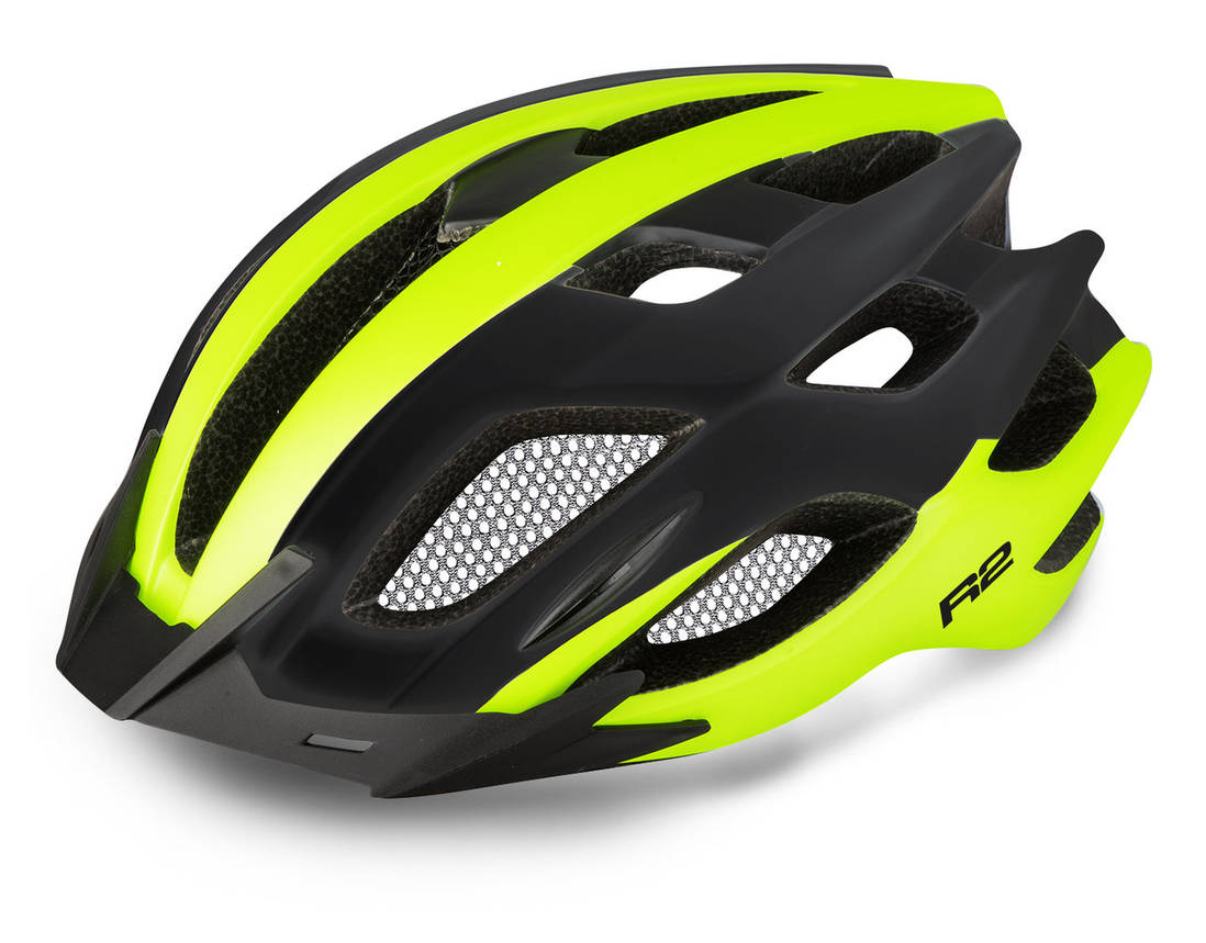 Шолом R2 Tour white, neon yellow, black, gloss M, фото 2
