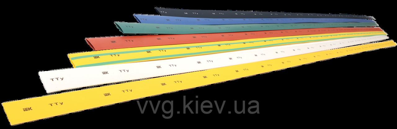 Термоусадочная трубка ТТУ 10/5 желто-зеленая 1 м IEK