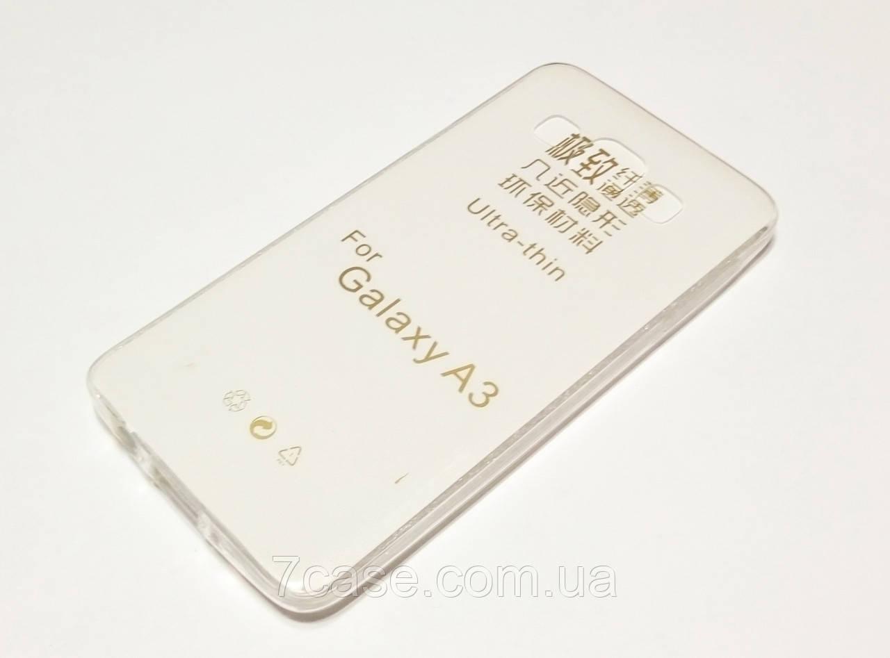 Чехол для Samsung Galaxy A3 A300 (2015) силиконовый ультратонкий прозрачный