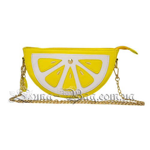 Женская сумка в виде (Lemon Slices) Цвет Жёлтый (13x22x6 cm ... ed0c40ea6be