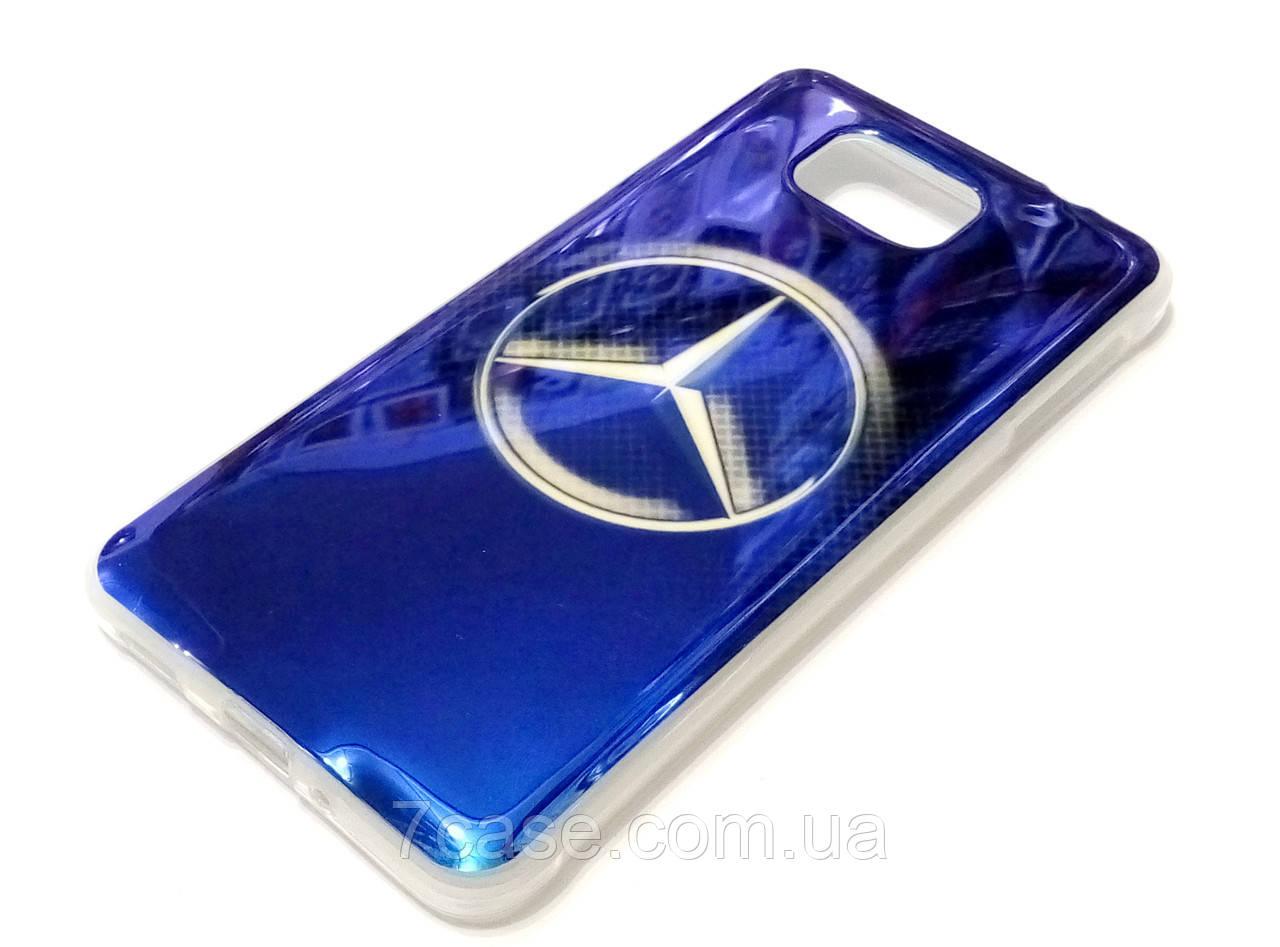 Чехол силиконовый с рисунком Mercedes для Samsung Galaxy Alpha g850f