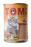 Консервы TOMi  duck liver для котов утка печень 0.4 кг.