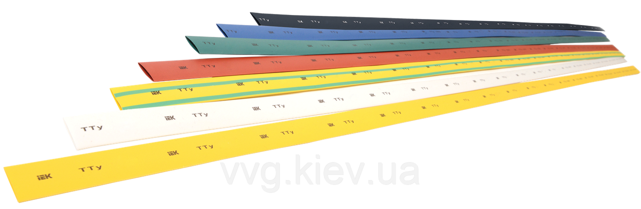 Термоусадочная трубка ТТУ 10/5 зеленая 1 м IEK
