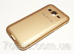 Чехол для Samsung Galaxy J2 J200 (2015) бампер алюминиевый + крышка золотой