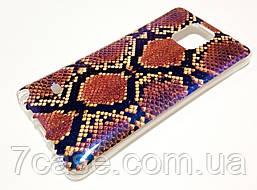 Чехол силиконовый с рисунком змея для Samsung Galaxy Note 4 n910