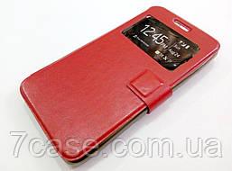 Чехол книжка с окошком momax для Lenovo A5000 красный