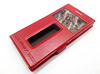 Чехол книжка с окошками momax для Lenovo P70 красный, фото 1