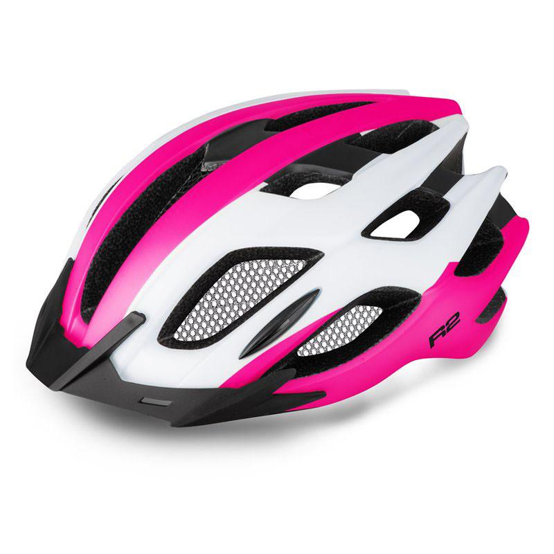 Шолом велосипедний R2 Tour M white, pink, black, gloss