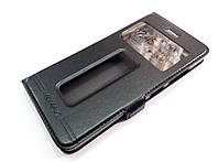 Чохол книжка з віконцями для Lenovo S90 Sisley чорний, фото 1