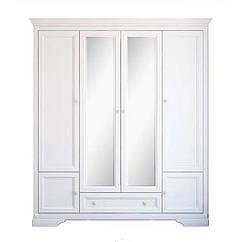 Шкаф 4d/1s Клео Гербор Белый